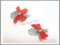 "Barrettes ""Pom's"" Perles By SyL'Art"