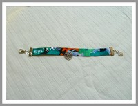 "Bracelet ""Flowers"" vert et orange By SyL'Art"
