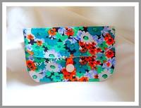 """Pochette """"Flowers"""" Vert et Orange By syL'Art"""