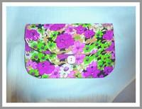 "Pochette ""Flowers"" Violet By syL'Art"