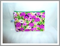 "Trousse Plate ""Flowers"" Violet By SyL'Art"