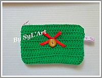 "Trousse ""Vercoha"" Noeud rouge By SyL'Art"